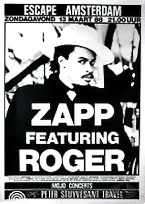 ZAPP & ROGER 1988 VIBE TOUR ORIGINAL AMSTERDAM CONCERT POSTER / EXCELLENT, used for sale  Smyrna