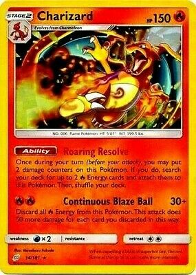 Charizard TEAM UP - ULTRA RARE 14/181 Pokemon Card NM/MT
