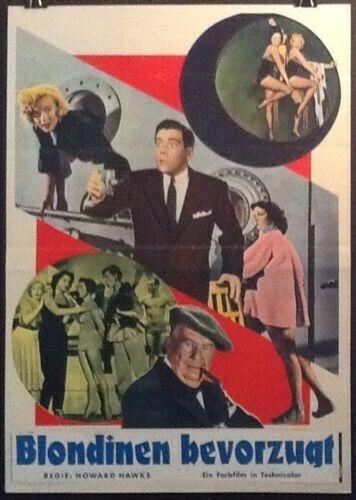Gentlemen Prefer Blondes Marilyn Monroe 1953 Italian Movie Poster German Title - $124.00