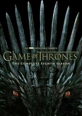 Game of Thrones: Complete Season 8 [DVD] 2019 4-Disc NEW & SEALED FREE SHIPPING