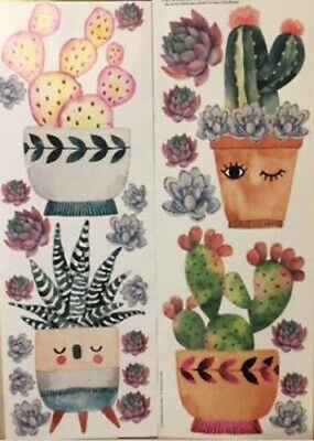 CACTUS PLANTS wall stickers 25 decals south western room decor potted cacti