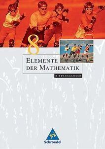 Elemente der Mathematik 8. Schülerband *** NEU *** Niedersachsen