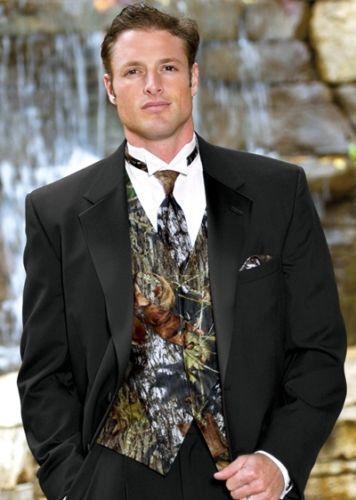 Camouflage Tuxedo Vest