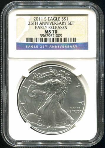 25th Anniversary Silver Eagle Set 70 Ebay