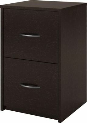 Wilson 2 Drawer Wood Filing Cabinet Espresso