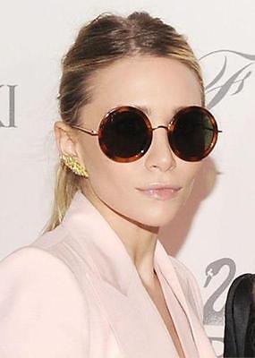 70's Vintage Retro Fashion Designer Round Oval Women's Hipster Hippie Sunglasses