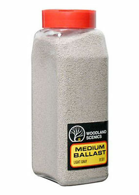 Woodland Scenics Ballast * 1381 LIGHT GRAY MEDIUM * 32 oz - NIB