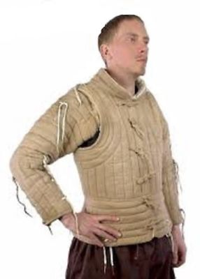 Medieval Jacket Viking Camel Color Gambeson Renaissance Coat For Armor Clothing - Renaissance Medieval Clothing