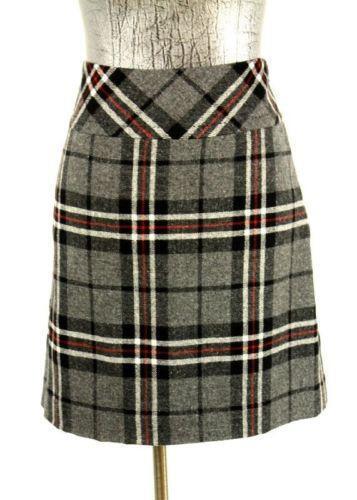 womens wool plaid skirt ebay
