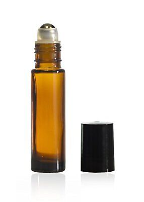 Amber Glass Roll On Bottles Wsteel Roller Ball For Essential Oils 8 Ml 12pc Set