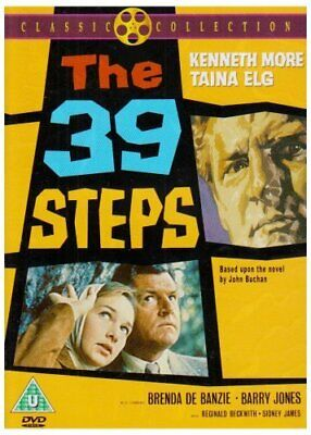 The 39 Steps (DVD) Kenneth More, Sid James, Taina Elg, Brenda De Banzie