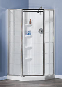 MAAX Lila 1-Piece French Shower Stall in White