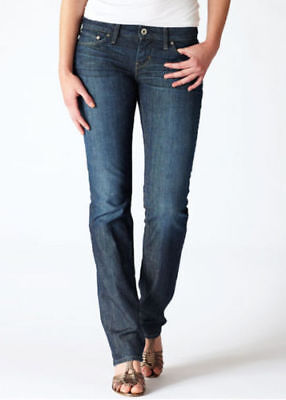 (New Ladies LEVI'S Modern Bold Curve Straight Denim Jeans Size 28