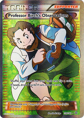 1x Professor Birch's Observations - 159/160 - Full Art NM-Mint Pokemon XY - Prim (Birch Mint)