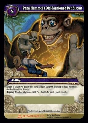 Papa Hummel's Old-Fashioned Pet Biscuit Loot Card World of Warcraft WoW TCG