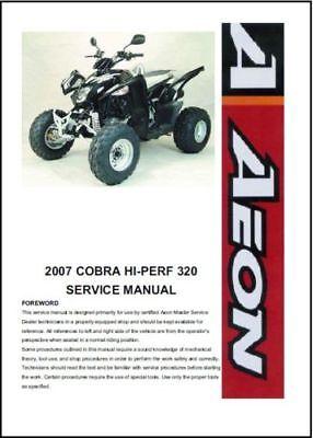 Aeon Cobra HI-PERF 320 ATV Service Repair Workshop Manual 2007 Onwards (0070)