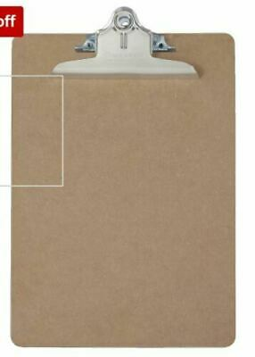 6 Pack Saunders Recycled Hardboard Clipboard Letter Size Brown
