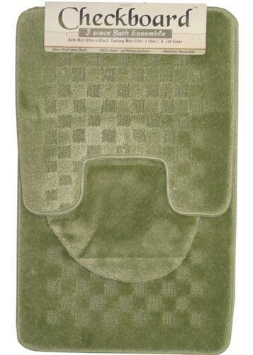 Bath Rug Set Walmart: 3 Piece Bathroom Rug Set