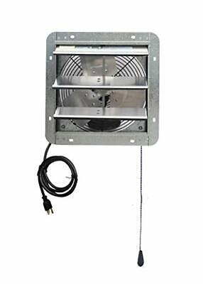 Wall Mounted Shutter Exhaust Thermostat Control-3 Speeds 12 Vent Fan For Home
