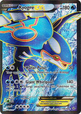 Pokemon  1X Kyogre Ex   148 160   Full Art   Nm Mint Xy Primal Clash