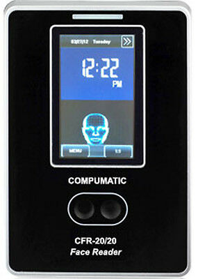 Compumatic Cfr-2020 V2 Touchless Biometric Face Recognition Time Clock W Wifi