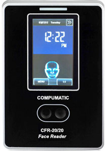 Compumatic CFR-20/20 v2 TOUCHLESS Biometric Face Recognition Time Clock w/ WiFi