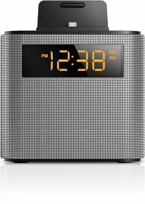Philips Bluetooth Speaker Dual Alarm Clock FM Radio Built-in MIC USB Charger