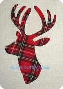 Fabric Stag Head