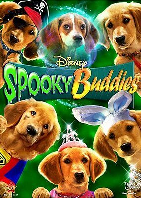 Disney Dogs Golden Retriever Puppies Ghost Halloween Movie Spooky Buddies on DVD - Disney Halloween Movie Dogs