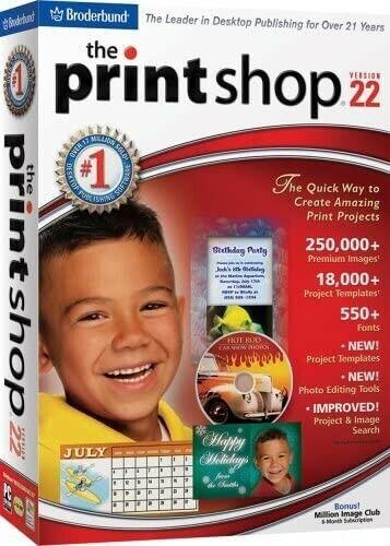 Print Shop Version 22 (PC) *New,Sealed*