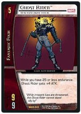 VS System: Ghost Rider, New Fantastic Four - Foil [Moderately Played] Marvel Ori