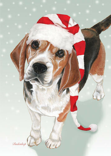 Beagle Christmas Cards Set of 10 cards & 10 envelopes
