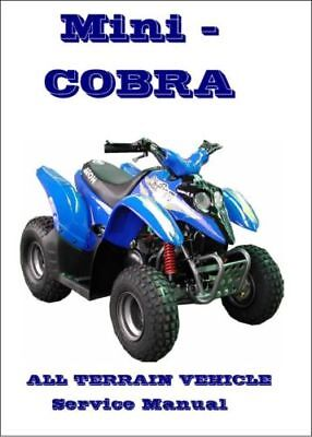 Aeon Mini Kolt Mini Cobra 49cc ATV Quad Service Manual (0073)