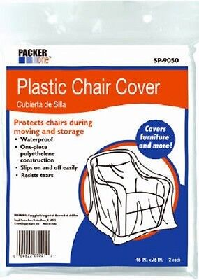 "Schwarz 8 Pack, 46"" x 76"", Packer One Plastic Chair Covers"