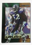 Ray Lewis Autograph Card