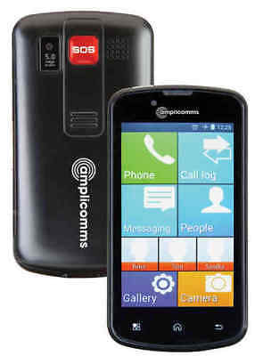 Screen Handy (Amplicomms Powertel M9000 Touchscreen Handy Notruftaste Seniorenhandy)