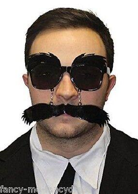 Herren 1920er Jahre Schwarz Groucho Kostüm Kleid Outfit Brillen -