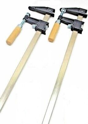 2 Woodworking Carpenter Cabinets Steel Bar F Clamp Quick Release 36''