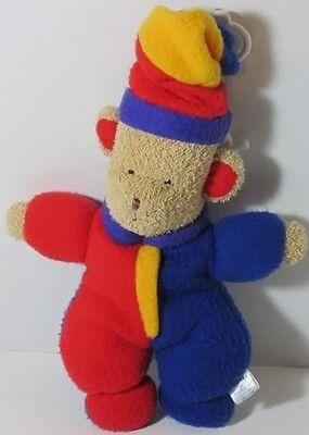 Vintage Carters PRIM CLOWN CIRCUS TEDDY BEAR Musical CRIB PULL Toy Stuffed LOVEY Clown Musical Pull