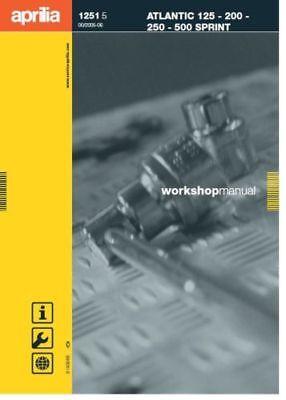 Aprilia Atlantic 125, 200, 250, 500 Sprint Service Repair Workshop Manual (0077)