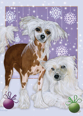 Chinese Crested Christmas Cards Set of 10 cards & 10 envelopes ()