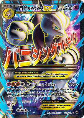 x1 Mega-Mewtwo-EX - 159/162 - Full Art Ultra Rare Pokemon XY Breakthrough M/NM