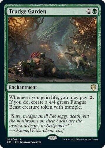 Mtg *trudge Garden X1* (nm) Strixhaven Magic The Gathering Free Shipping