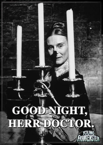 """Young Frankenstein Photo Quality Magnet: """"Good Night Herr Doctor"""""""