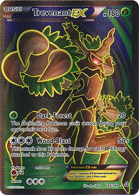 Pokemon  1X Trevenant Ex   145 160   Full Art   Nm Mint Xy Primal Clash