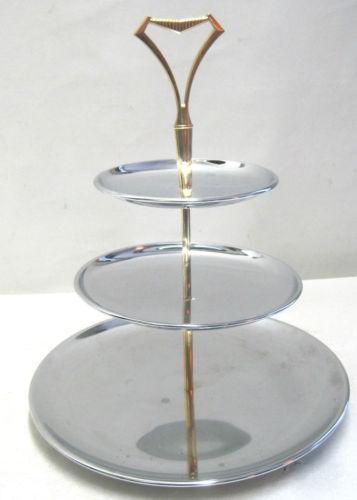 3 tier serving tray ebay. Black Bedroom Furniture Sets. Home Design Ideas