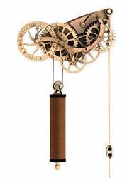 Abong Laser-Cut Mechanical Wooden Pendulum Clock - 3D Clock Puzzle Model Kit -