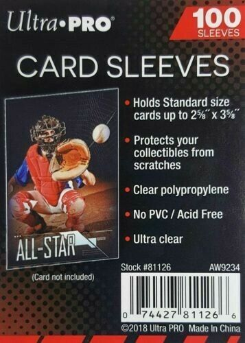 100 Ultra PRO Standard Size Soft Penny Sleeves - Sports - Trading - Gaming Cards