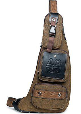 Small Chest Pack Crossbody Bag Vintage Canvas Shoulder Sling Men Women Traveling