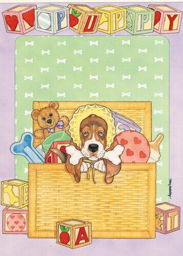 Puppy Congratulation Card 5 x 7 with envelope